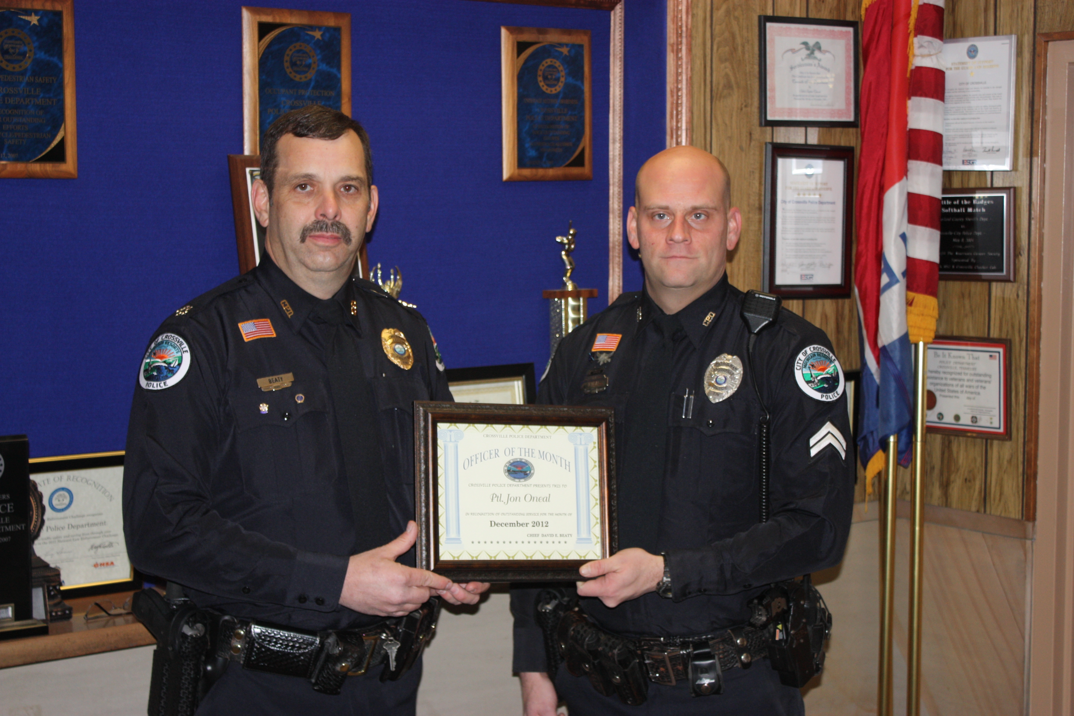 JOnathan O'Neal December Officer of the Month